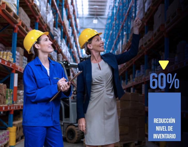 Programa Demand Driven Planner te ayuda a reducir el nivel de inventario. Identificas el sobrestock y el desabastecimiento.